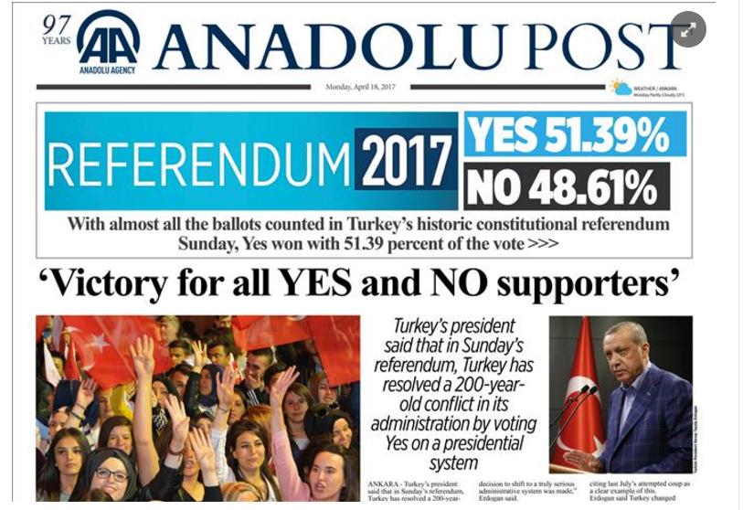 ANADOLU AGENCY: Turecká opozícia žiada kvôli podvodom zrušenie výsledkov referenda