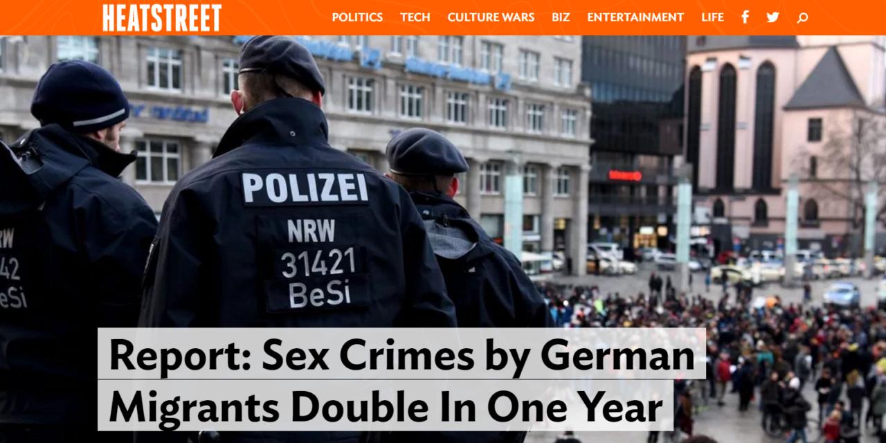 HEATSTREET: Sexuálne trestné činy migrantov v Nemecku sa za rok zdvojnásobili. Imigranti za minulý rok 2016 spáchali 3 404 sexuálnych trestných činov