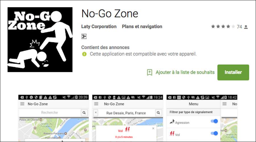 """Aplikácia """"No-Go Zone"""" umožňuje parížanom vyhnúť sa nebezpečným miestam"""