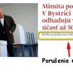 Denník SME porušil volebné moratórium