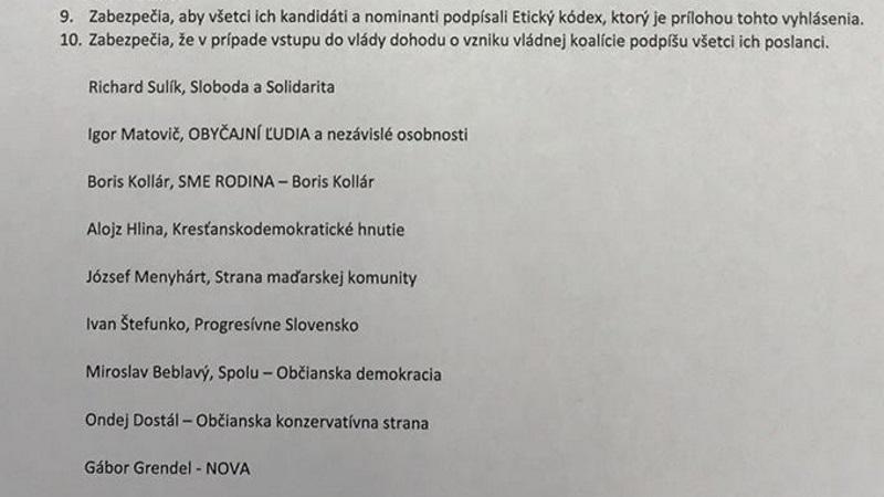 Richard Sulík navrhol dohodu opozičných strán,  téma presídľovania migrantov na Slovensko môže niektoré strany od podpisu odradiť