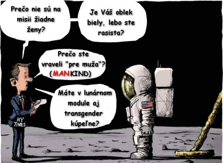 Ako vyzerá ľavicovo liberálna debata o výročí Apolla :D (Mankind je v originálnej verzii…