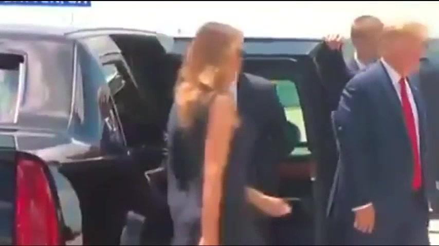 """""""K nohe!"""" zavelil Trump manželke Internetom sa šíri video, kde americký prezident privoláva prvú…"""
