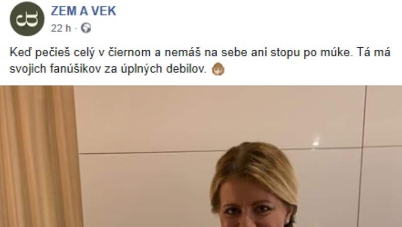 Keď sa darí, tak sa darí. Zuzana Čaputová opäť na posmech.