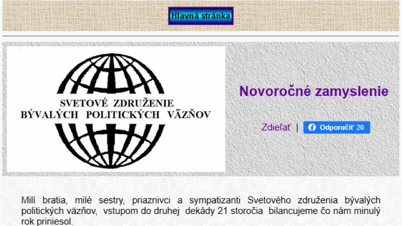 Svetové združenie bývalých politických väzňov kritizuje obmedzovanie slobody slova na Slovensku.
