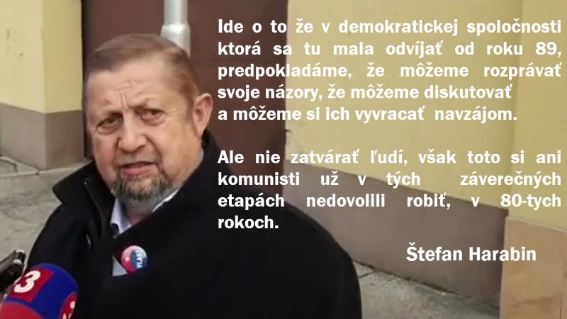 Š. Harabin: odsúdenie T. Rostasa a M. Mazureka je politickým rozhodnutím, R.Vaský a M.Daňo sú politickí väzni.