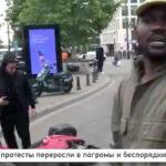 """Video – antifa spolu s ďalšími """"bojovníkmi proti rasizmu""""  ničia centrum Bruselu."""