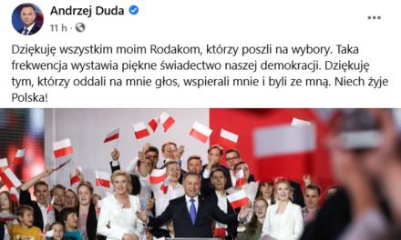 V Poľsku ostáva pronárodný prezident Andrzej Duda ale bolo to tesné.