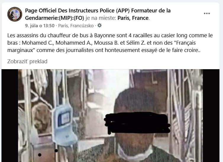 Francúzsko – unikli mená páchateľov vraždy vodiča autobusu v Bayonne
